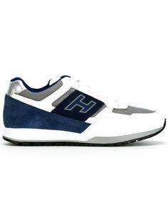 кроссовки со шнуровкой и заплатками Hogan