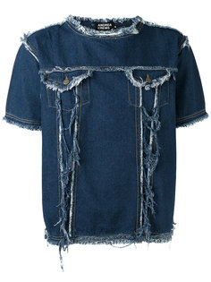 frayed denim T-shirt Andrea Crews