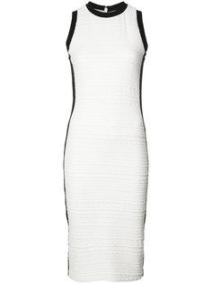 textured midi dress Nicole Miller