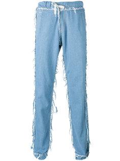 свободные джинсы с необработанными краями Andrea Crews