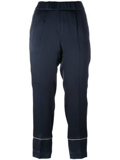 классические брюки с контрастной окантовкой Brunello Cucinelli