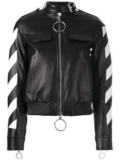 куртка с контрастными полосками на молнии Off-White