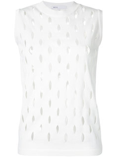perforated detail sleeveless top  08Sircus
