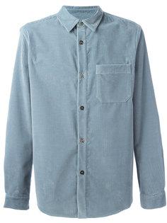 вельветовая рубашка на пуговицах A.P.C.