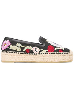 эспадрильи с цветочной вышивкой Alexander McQueen