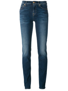 light-wash skinny jeans 7 For All Mankind