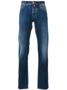 джинсы с контрастными заплатками Jacob Cohen