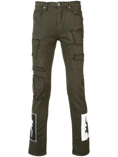 брюки с нашивками Helmut Lang