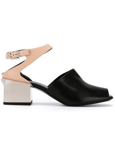 босоножки на массивном каблуке Jil Sander