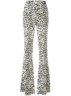 брюки клеш с леопардовым принтом Roberto Cavalli