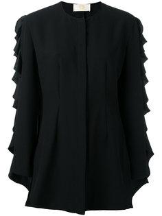 блузка с длинными рукавами с рюшами Sara Battaglia