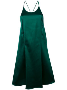 платье шифт с отделкой металлик Attico