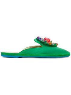 сандалии с вышивкой Car Shoe