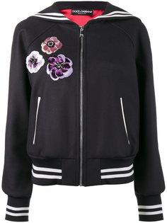 куртка-бомбер с цветочными элементами Dolce & Gabbana