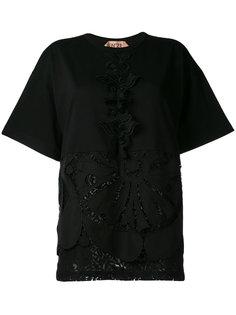 футболка с кружевной отделкой Nº21