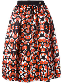 patterned pleated skirt Cavalli Class