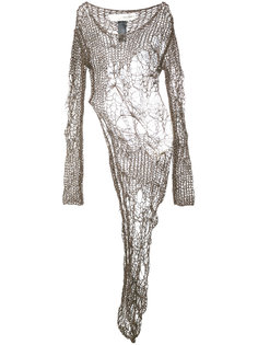 open knit asymmetric dress Isabel Benenato