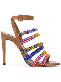 tribal strappy sandals  Aquazzura