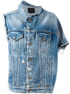 асимметричная джинсовая куртка R13