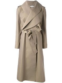 длинное пальто с поясом J.W.Anderson