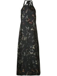 длинное платье-фартук Josh Goot