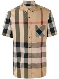 Рубашка в клетку с короткими рукавами  Burberry