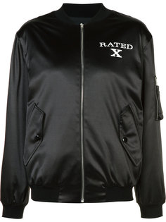 slogan bomber jacket Jeremy Scott