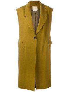свободное классическое пальто без рукавов Erika Cavallini