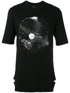 футболка с принтом диско-шара Helmut Lang