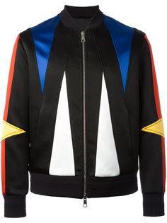куртка-бомбер с геометрическими панелями Neil Barrett