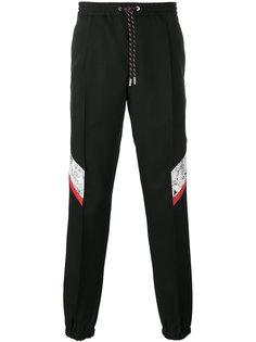 спортивные брюки с контрастными панелями Dior Homme