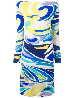 приталенное платье с абстрактным принтом Emilio Pucci