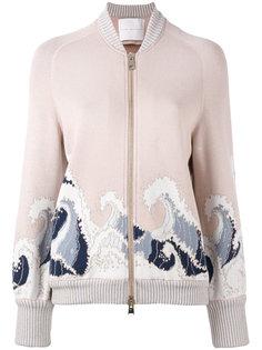 куртка-бомбер  с волнистым узором Giada Benincasa
