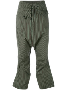 striped cropped trousers Rundholz