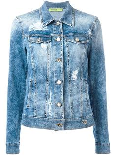 distressed denim jacket Versace Jeans