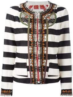 stripe embellished cropped jacket Bazar Deluxe