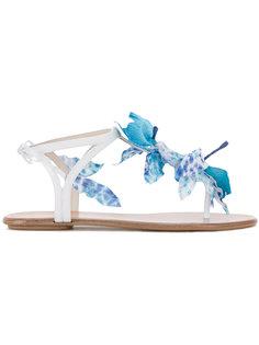 сандалии с цветочным украшением  Aquazzura