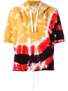 tie-dye shortsleeved hoodie Faith Connexion
