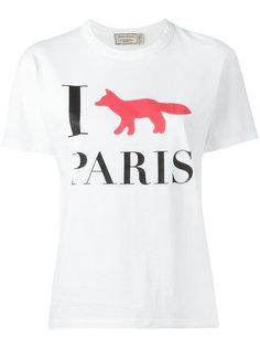 футболка I Fox Paris Maison Kitsuné