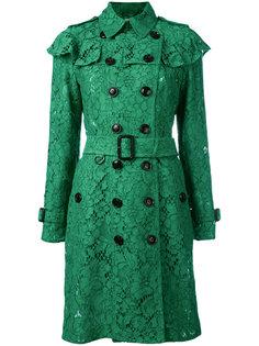 пальто с отделкой из рюшей Burberry