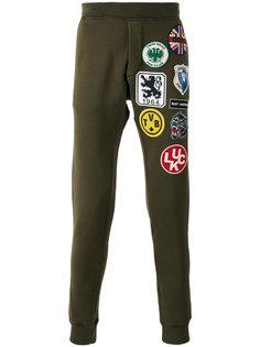спортивные брюки с заплатками Dsquared2