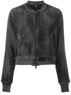 куртка-бомбер  с заклепками Avant Toi