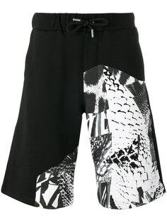 шорты с комбинированным принтом Les Hommes Urban