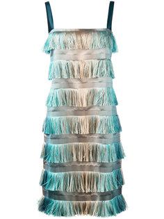 tiered fringe dress Alberta Ferretti