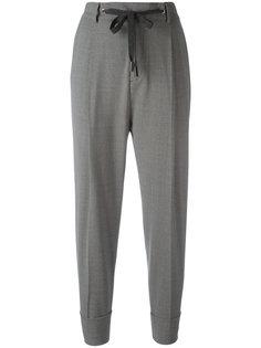укороченные брюки с заниженным шаговым швом Eleventy