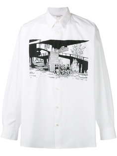 рубашка с принтом-пейзажем Stella McCartney