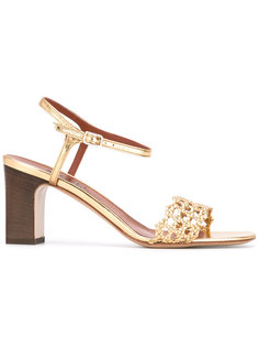 woven strap heeled sandals  Michel Vivien