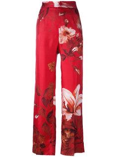 брюки с цветочным принтом и завышенной талией F.R.S For Restless Sleepers