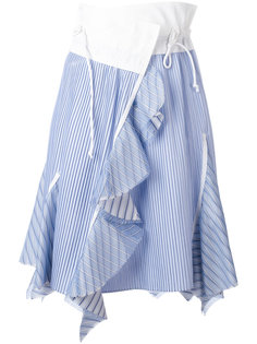 асимметричная юбка в полоску Sacai