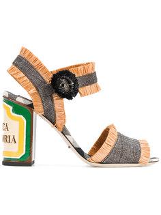 босоножки из рафии Dolce & Gabbana